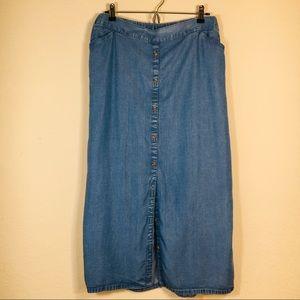 J. Jill Denim Jean  Midi Or Maxi Long Skirt  XL